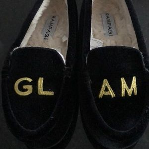 Glam house slippers or comfortable flats!